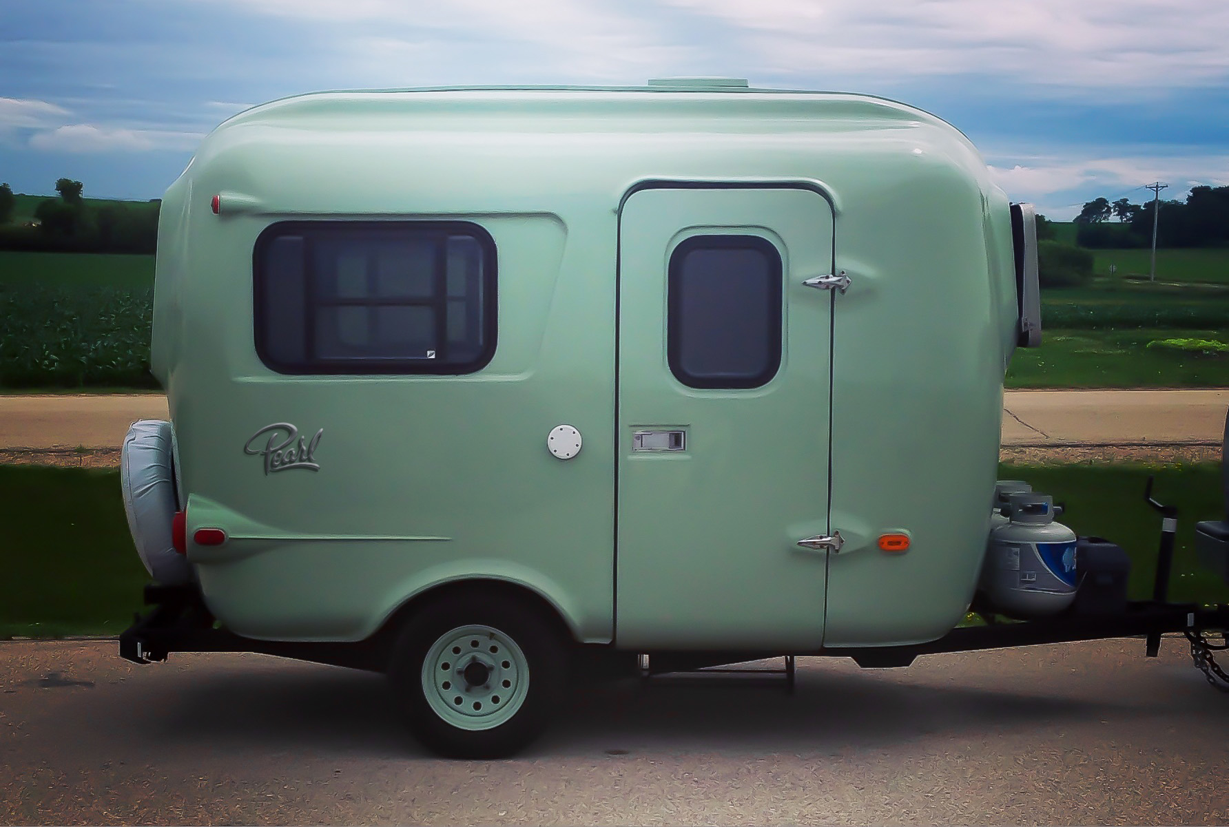 Bring Her Recently Remodeled Burro Camper Back To Life With An Emblem I Came Up This Script Identity And Had It Printed Primed Painted